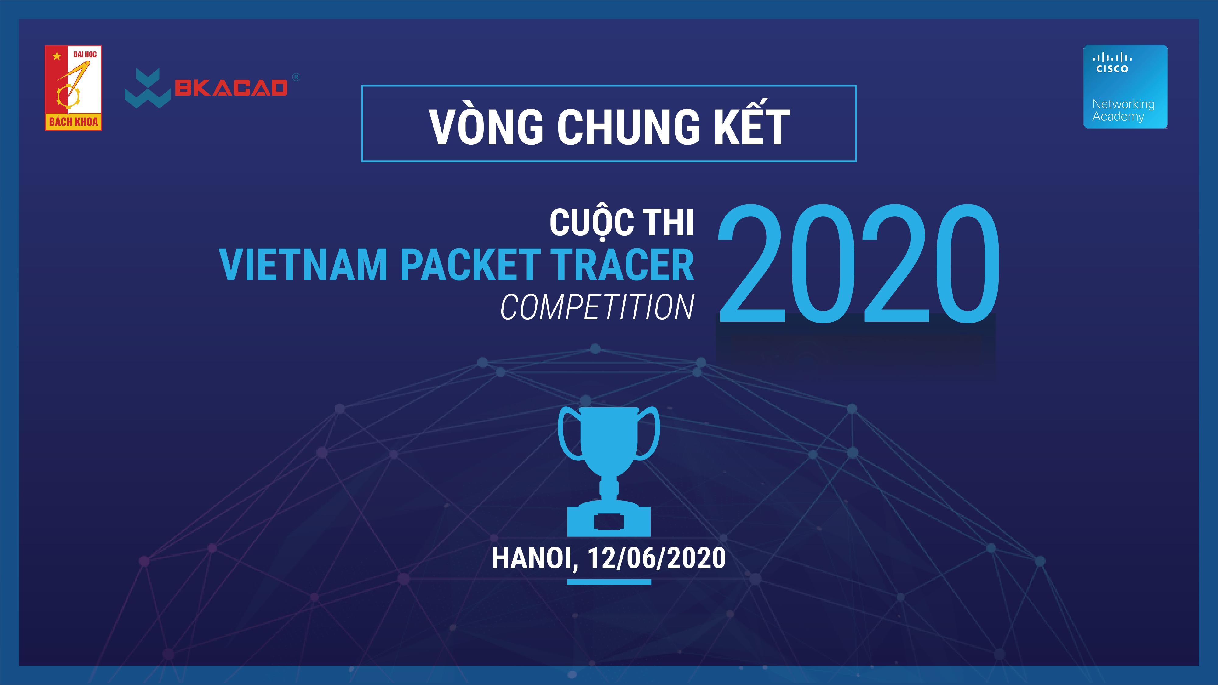 SINH VIÊN BKACAD GIÀNH GIẢI BA TRONG CUỘC THI VIETNAM PACKET TRACER 2020